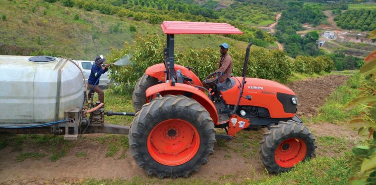 Kubota a is a positive work force on Emseni missionary farm